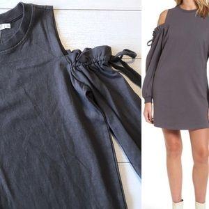 Lush Nordstrom Cold Shoulder Sweatshirt Dress S